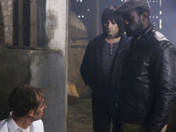 """Neil Sandilands (left), Matthew Rhys and Dwayne Alistair Thomas in a scene from FX´s """"The Americans"""""""