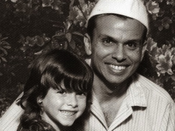 H. Jay Dinshah with his daughter Anne in the mid-1970s.