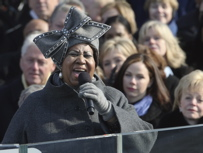 Photos courtesy of AP. What do we think of Aretha and this hat. y´all?