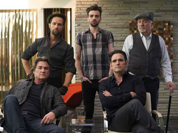 "The gang: (from left) Kurt Russell, Chris Diamantopoulos, Jay Baruchel, Matt Dillon, Kenneth Welsh in ""The Art of the Steal."""