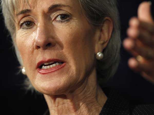Health and Human Services Secretary Kathleen Sebelius gestures as she makes remarks during a news conference at a health care fraud prevention summit at the University of the Sciences, Friday, June 17, 2011, in Philadelphia. (AP Photo/Matt Rourke)