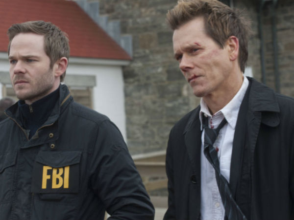 "Shawn Ashmore (left) and Kevin Bacon in Monday´s season finale of Fox´s ""The Following"""