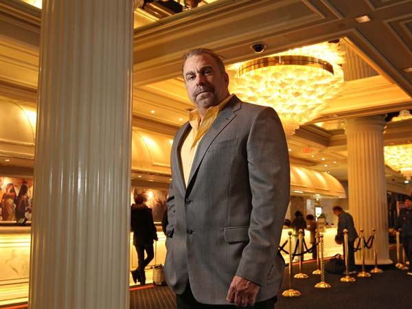 Atlantic Club chief financial officer, Michael Frawley, head of the smallest gambling hall at the seaside resort stands in the hotel lobby of his resort.  They seem like strange bedfellows, but with Gov. Christie weighing on whether to sign off on legalizing Internet gaming in the Garden State, it all makes sense. Rational Group US Holdings, the parent company of PokerStars and Full Tilt Poker, is asking New Jersey casino regulators for permission to buy the tiny Atlantic Club . Atlantic Club chief financial officer, Michael Frawley, head of the smallest gambling hall at the seaside resort - and its workforce of 1,700.   ATLANTIC01   01/30/2013 ( MICHAEL BRYANT / Staff Photographer  )