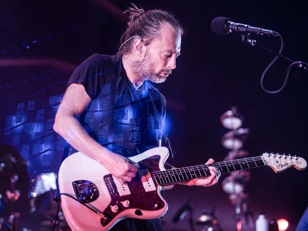 Thom Yorke of Atoms for Peace performs during the first night of the band´s tour at the Liacouras Center on September 24, 2013. (Colin Kerrigan / Philly.com)
