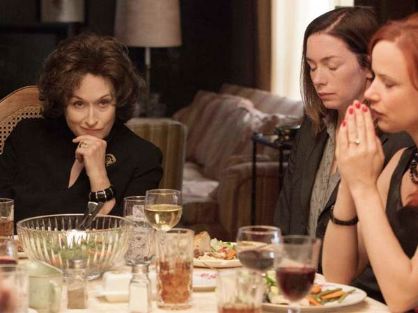 Meryl Streep (left) plays the nasty mother of Julianne Nicholson (center) and Juliette Lewis in the film version of the award-winning play.