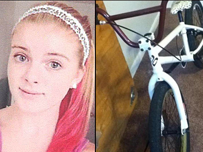 Autumn Pasquale and her BMX bike