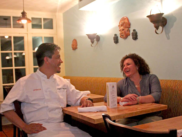 Edgar and Kim Alvarez in the dining room of Cantina Avenida, 7402 Germantown Ave.