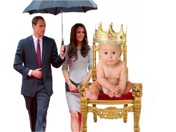 Prince William and Kate Middleton are expecting a royal baby. (Graphic: Colin Kerrigan / Philly.com)