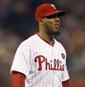 Phillies´ pitcher Antonio Bastardo has struggled in September. (Yong Kim / Staff Photographer)