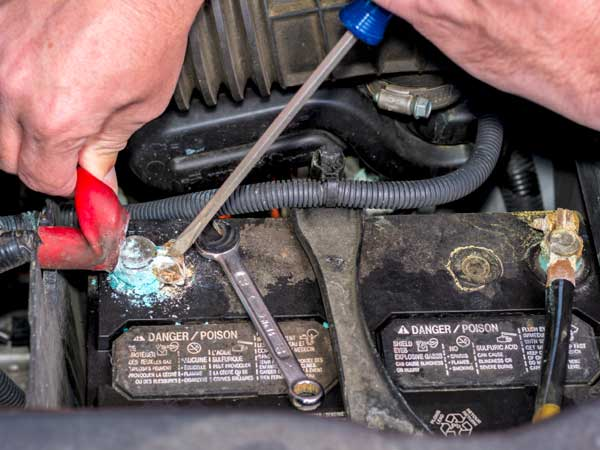 Stopping battery corrosion.