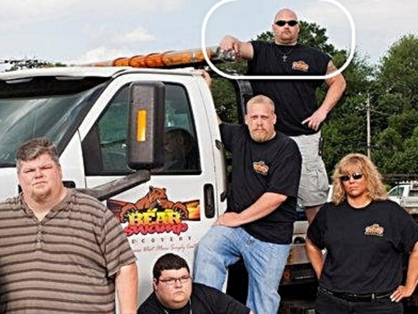 """The cast of Bear Swamp Recovery. Joe Derrico collects a police disability pension of nearly $70,000 a year. In the eyes of the State of New Jersey, the retired HamiltonTownship cop is """"totally and permanently disabled"""" by a leg injury."""