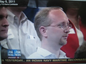 Philadelphia teacher Chris Paslay was in the audience for a recent taping of the Glenn Beck show on education.  Paslay is shown here.