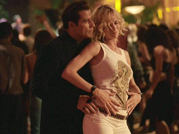 "Chili (John Travolta) and Edie (Uma Thurman) hit the dance floor in MGM Pictures comedy ""Be Cool."" (VNU DIGITAL PHOTO. MGM PICTURES. CR: RON PHILLIPS)"