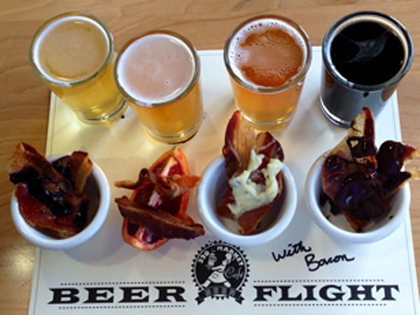 Beer And Bacon Together In Flight Philly