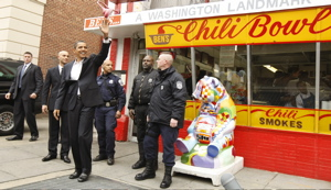 Ben´s Chili Bowl. The excitement on Monday was centered at U-Street. Here is where Obama stopped.