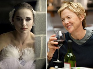 "Natalie Portman as Nina in ""Black Swan;"" Annette Bening as Nic in ""The Kids Are All Right"""