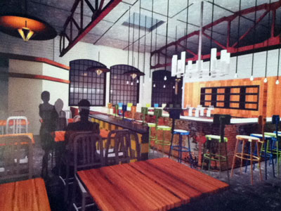 Rendering of Birreria 600, Vetri´s restaurant on the Mount Vernon Street side, behind Starr´s Route 6.