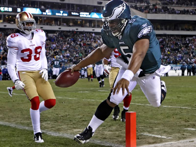 Donovan McNabb had an up-and-down performance Sunday against the 49ers. ( Ron Cortes / Staff Photographer )