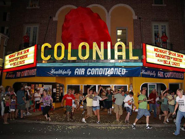 "BlobFest, a yearly tradition at Phoenixville, PA´s Colonial Theatre, honors the 1950´s horror flick ""The Blob."" (Photo via Facebook)"