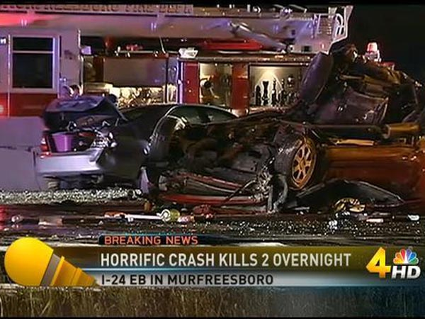Screenshot of the crash from NBC.
