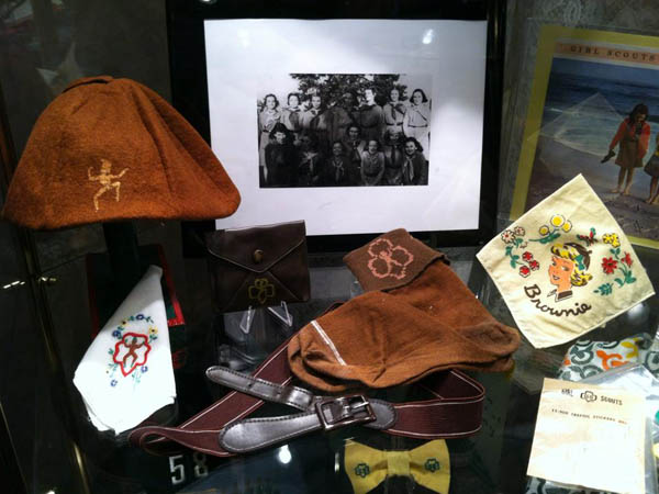 "A selection of the Boy Scout memorabilia on display at the ""Be Prepared: Scouts of Yesteryear"" exhibit. (Photo via Gloucester County Historical Society Facebook)"