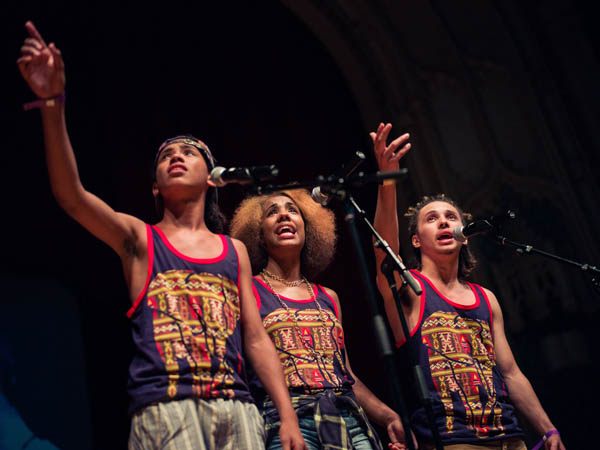 Teen spoken word artists will compete in Philadelphia for this year´s Brave New Voices International Poetry Slam. (Photo by Daniel S. Schaefer courtesy of Youth Speaks)