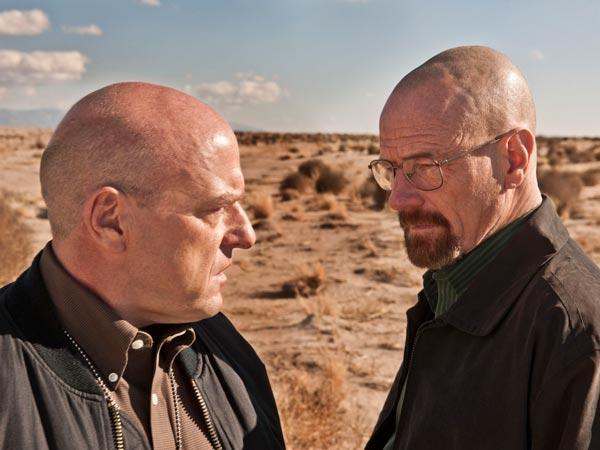 Hank Schrader (Dean Norris) and Walter White (Bryan Cranston) of Breaking Bad. ( Photo Credit Frank Ockenfels 3/AMC )