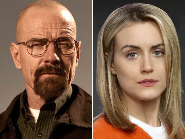 ´Breaking Bad´ and ´Orange Is the New Black´ go head-to-head this Emmy season. (Photos via AMC and Netflix, respectively)