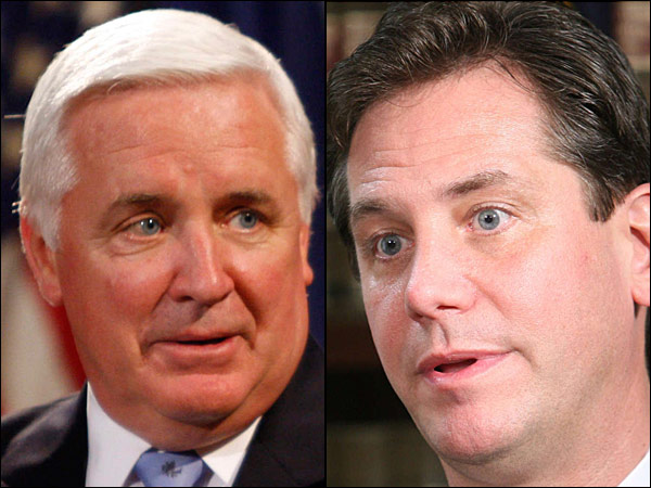 Gov. Corbett and possible primary challenger Bruce Castor
