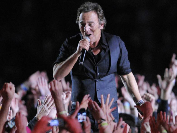 Bruce Springsteen performs during halftime of the NFL Super Bowl XLIII football game between the Arizona Cardinals and the Pittsburgh Steelers in Tampa, Fla. This year´s Super Bowl performer will Bruno Mars. (AP Photo/Mark J. Terrill, File)