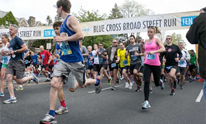 Nearly 40,000 runners participated in the 2013 Blue Cross Broad Street Run on Sunday, May 5, 2013. (Colin Kerrigan / Philly.com)