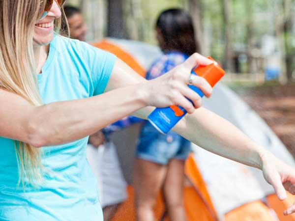 Mosquitoes, ticks and fleas transmit diseases, so reach for insect repellant before sending them outdoors.