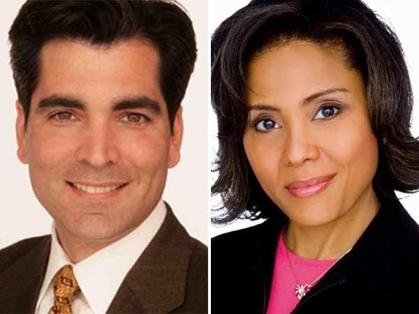 Tom Burlington and Joyce Evans co-anchored the weekend news broadcast on Fox29.