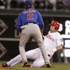 Pat Burrell had a big day, but the Phillies really needed a strong effort last night from Brett Myers. They got it.