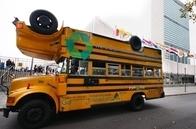 Hazon/Teva Topsy-Turvy Veggie-Powered School Bus