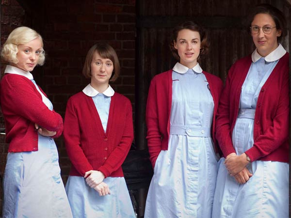 "Calling all Anglophiles: PBS´s ""Call the Midwife,"" with (from left) Trixie Franklin, Cynthia Miller, Jenny Lee, and Chummy Noakes, is clearly aimed at fans of crown jewel ""Downton Abbey."""