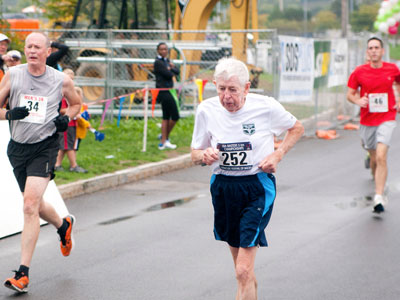 In just the year and a half span since he began running, Campbell set a 5K record for the 85-89 age group in September at the United States Track and Field National Masters Championship in Syracuse, N.Y., with a time of 26:45.