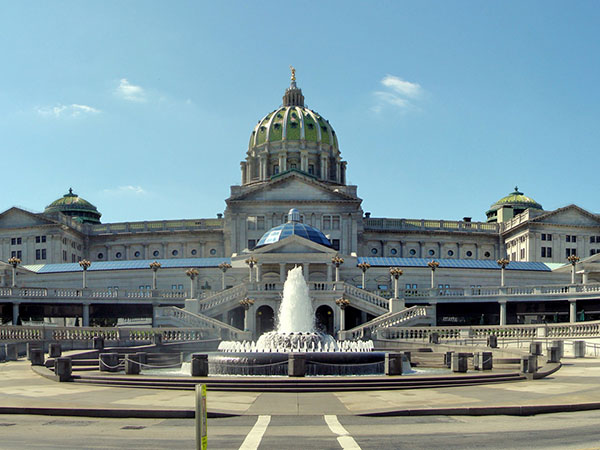 State capital complex in Harrisburg. Irvis building at left. View seen from Commonwealth Ave. (MICHAEL BRYANT/Staff photographer)