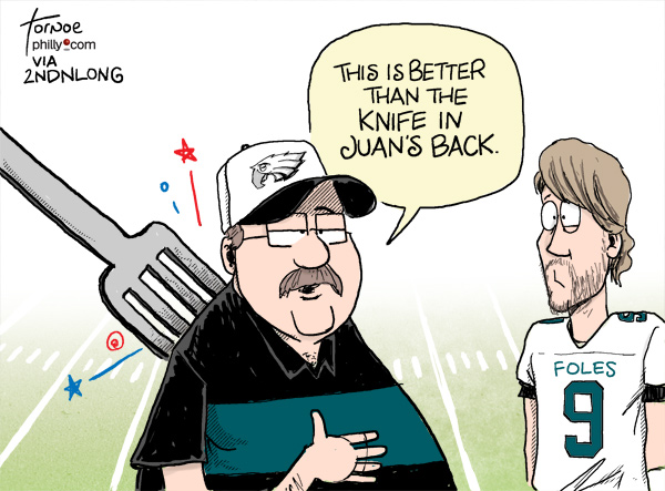 Eagles cartoon caption contest results