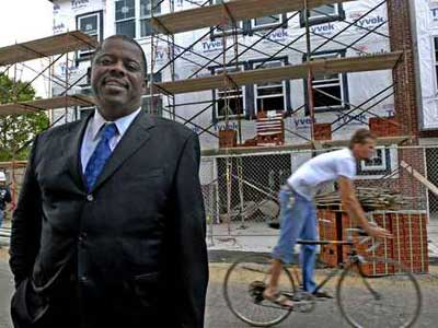Wells Fargo Bank has foreclosed on Carl Greene&acute;s $615,035 condominium in the upscale Naval Square development in Southwest Philadelphia.  Greene is executive director of the PHA. (file photo)<br /><br />