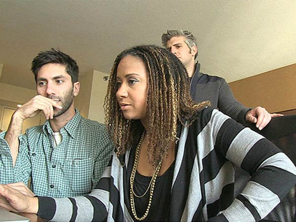 "Nev Schulman, actress Tracie Thoms and Max Joseph investigate on MTV´s ""Catfish"""