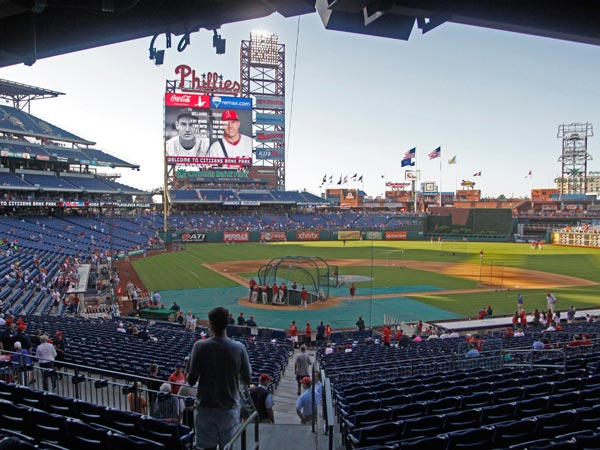 Citizens Bank Park will host an intense athletic contest this offseason. (AP Photo/H. Rumph Jr)
