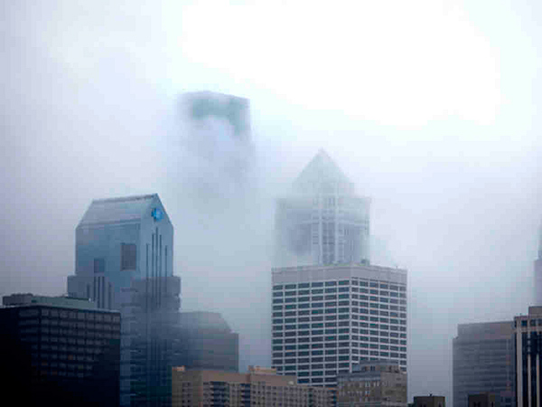 A foggy morning in Center City Philadelphia