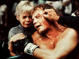 "Ricky Schroder with Jon Voight in ""The Champ"""