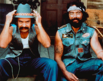 Cheech and Chong, circa 1978, the paleolithic era of the stoner movie