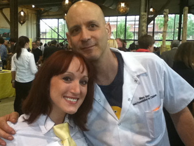 Marc Vetri with volunteer server Allie Harcharek at the 2011 Great Chefs Event.