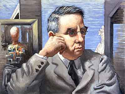 Chirico portrait of Albert Barnes