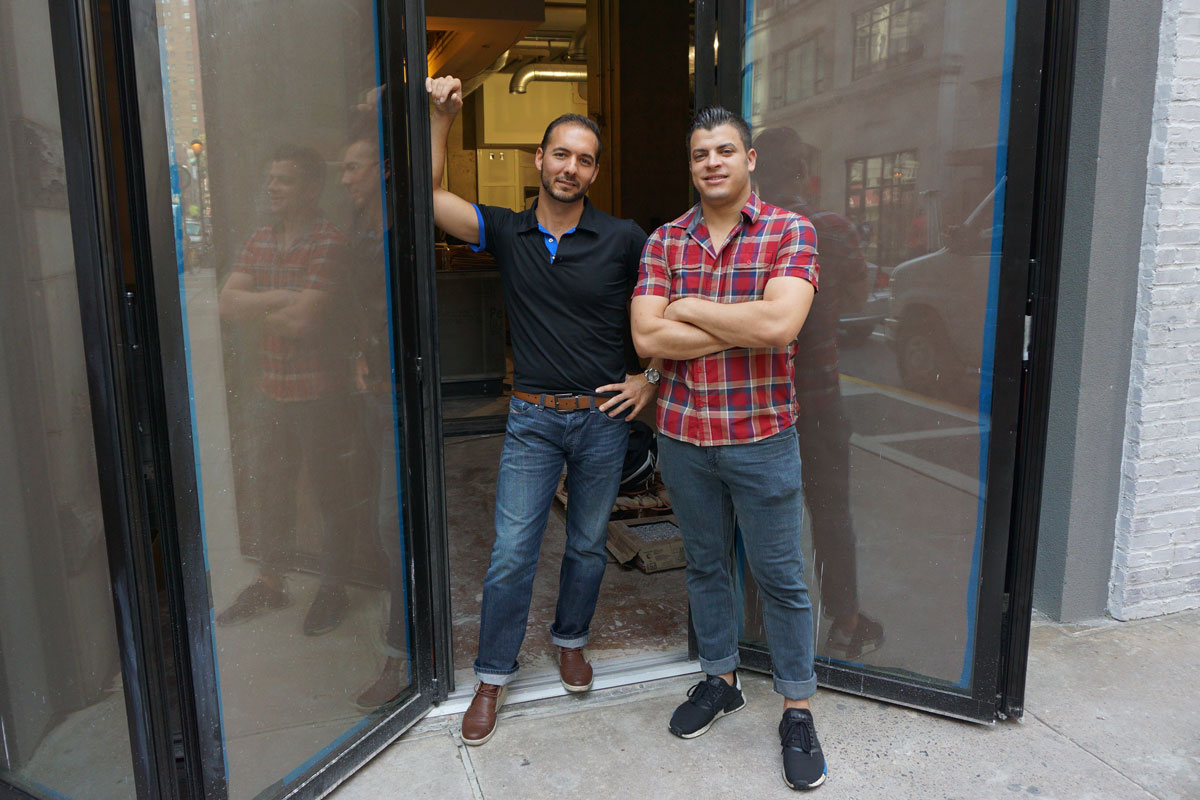 Owner Teddy Sourias (left) and executive chef Jonathan Petruce at Cinder, 1500 Locust St.
