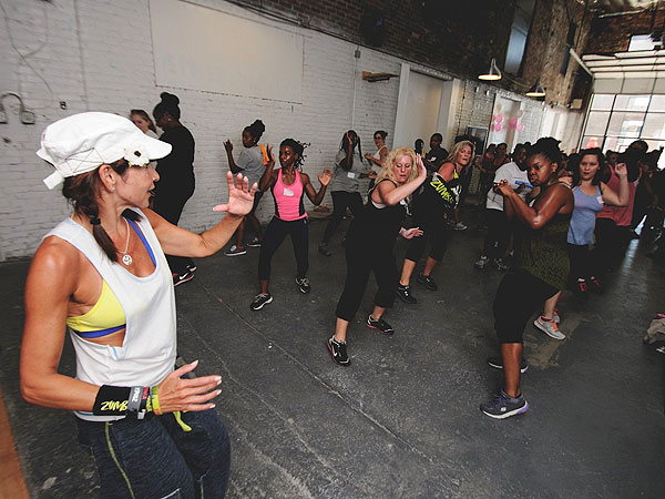 A scene from the 2013 City Fit Girls FitRetreat held at the American Dreaming Magazine Headquarters in Northern Liberties.