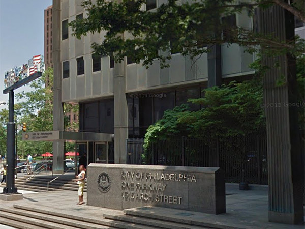 Work was canceled for some employees today, Wednesday, April 16, 2014, because of elevator problems at the city office building at Arch Street and the Ben Franklin Parkway. (Photo/Google)